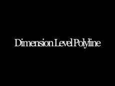 Dimension Level Polyline