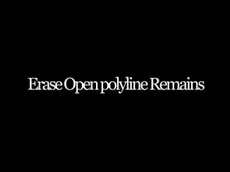 Erase Open polyline Remains