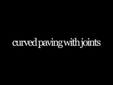 curved paving with joints