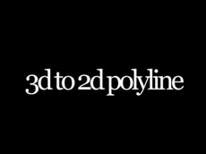 3d to 2d-polylines