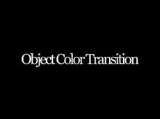 Object Color Transition
