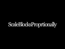 Scale Blocks Proportionally